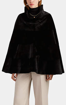 The Row Women's Mora Mink Fur Cape - Black