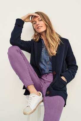 Next Womens Navy Rib Boyfriend Cardigan