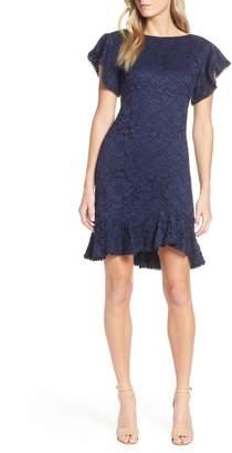 Vince Camuto Flutter Sleeve Lace Dress