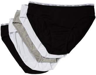 Calvin Klein Underwear 5-Pack Signature Cotton Bikini Bottoms Women's Underwear