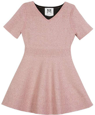 Milly Minis Metallic Double-Knit Dress, Size 8-14