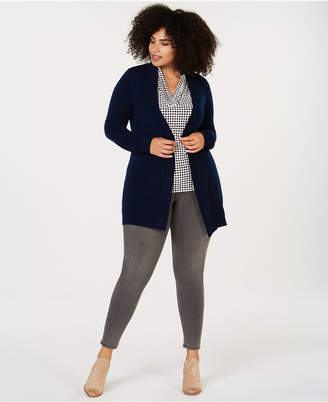 Charter Club Plus Size Pure Cashmere Cardigan Sweater