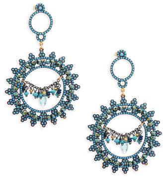 2e77ff142 Azaara 22K Gold Gemstone Drop Earrings