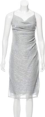 Laundry by Shelli Segal Metallic Midi Dress w/ Tags
