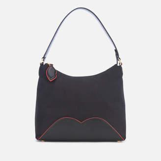 Lulu Guinness Women's Cupid's Bow Lucilla Medium Bag - Black/Scarlet