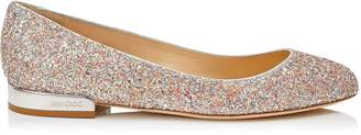 Jimmy Choo JESSIE FLAT Viola Mix Speckled Glitter Round Toe Pumps