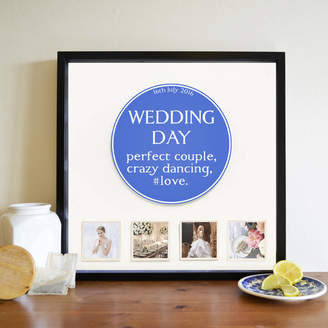 Instajunction Personalised Occasion Blue Plaque 3D Box Frame