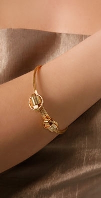 Rachel Leigh Gold Knot Bangle