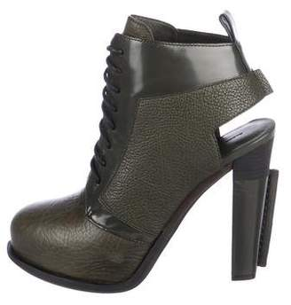 Alexander Wang Leather Platform Booties w/ Tags