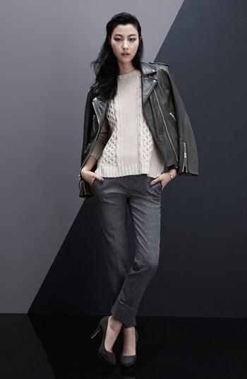 Theory 'Dalayan' Leather Moto Jacket