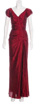 Christian Dior Bow-Accented Silk Gown