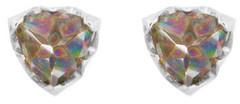Logan Hollowell - Papa Inverted Rainbow Topaz Trillion Earrings