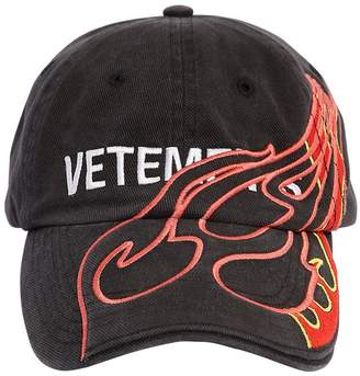 Vetements Printed Logo Fire Hat