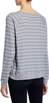 Allen Allen Je T'aime Striped Thermal Sweatshirt