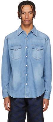 Wacko Maria Blue Denim Western Shirt