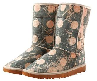 Goby Waterproof Dot Print Faux Fur Lined Boot