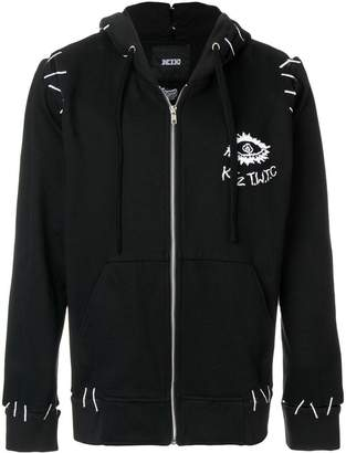 Kokon To Zai monster and pin embroidery hooded jacket