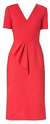 Carolina Herrera Women's Draped Midi Sheath Dress