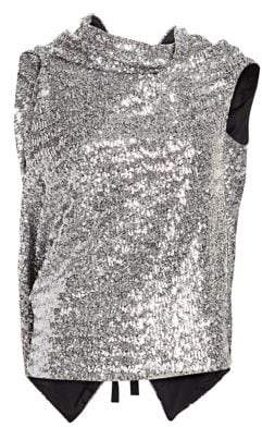 Roland Mouret Eugene Sequined Drape Top