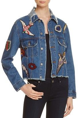 Sunset & Spring Patched Denim Jacket - 100% Exclusive $128 thestylecure.com