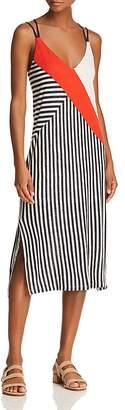 Splendid x Margherita Color-Block Striped Slip Dress