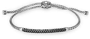 John Hardy Women's Chain Sterling Silver, Black Spinel & Black Sapphire Mini Rope Bracelet