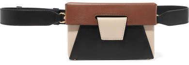Yuzefi - Lola Color-block Leather Belt Bag - Black
