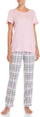 Nautica Two-Piece Tee & Pants PJ Set
