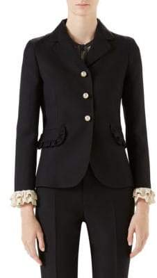 Gucci Cady Crepe Wool Jacket