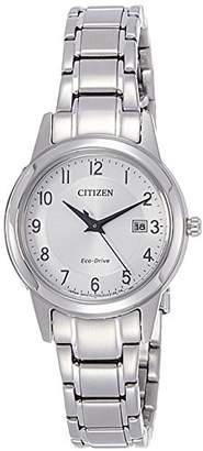 Citizen Womens Analogue Quartz Watch with Stainless Steel Strap FE1081-59B