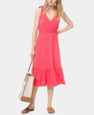 Michael Kors Michael Tie-Shoulder Midi Dress, Regular & Petite