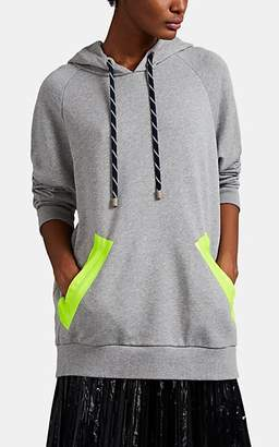 Maison Margiela Women's Cotton Terry Oversized Hoodie - Gray