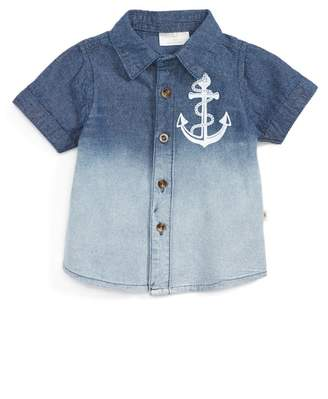 Rosie Pope Dip Dye Chambray Shirt (Baby Boys)