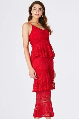 55e2787b2b7d Girls On Film Born Tiered Ruffle Midi Dress