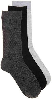 Nine West Diamond Crew Socks - 3 Pack - Women's
