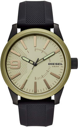 Diesel Men's Rasp Nsbb Black Silicone Strap Watch 46mm