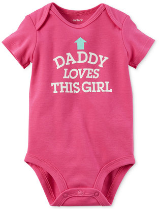 Carter's Daddy Loves This Girl Cotton Bodysuit, Baby Girls (0-24 months) $12 thestylecure.com