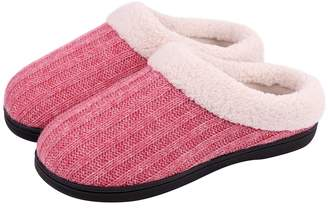 f02862c1370 at Amazon Canada · Snug Leaves Women s Knitted Slippers Cozy Memory Foam  Plush Lining Slip-on House Shoes w