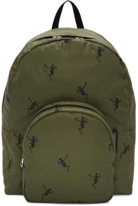 Alexander McQueen Green Dancing Skeleton Backpack