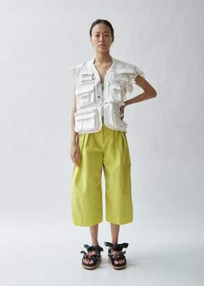 Sacai Gabardine x Lace Zipper Vest