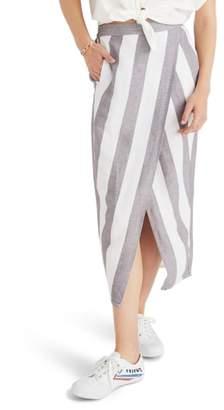 Madewell Stripe Overlay Skirt