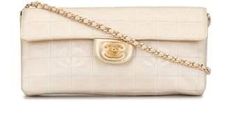 Chanel Pre-Owned Travel Line chocolate bar shoulder bag
