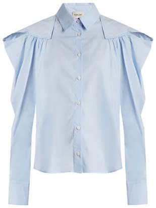 Rachel Comey Crescent gathered-shoulder cotton shirt