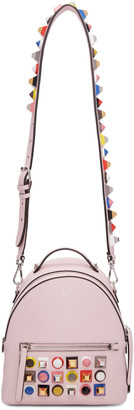 Fendi Pink Mini Studded Rainbow Messenger Backpack $2,895 thestylecure.com