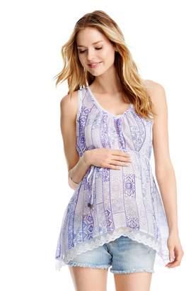 Jessica Simpson Motherhood Maternity Tie Detail Maternity Top