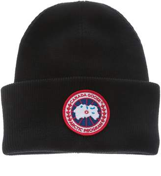 Canada Goose Logo Embroidered Beanie