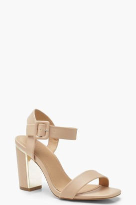 boohoo Wide Fit Block Heel 2 Part Heels