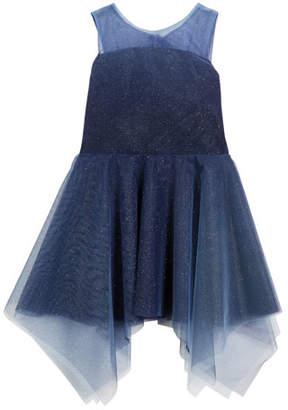 Zoe Ombre Shimmer Tulle Sleeveless Dress, Size 4-6X