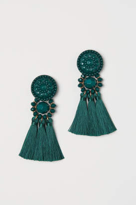 H&M Earrings with tassels - Green