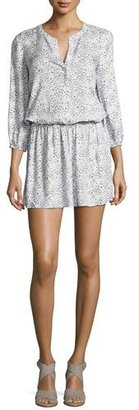 Soft Joie Capriana Blouson Mini Dress, White $188 thestylecure.com